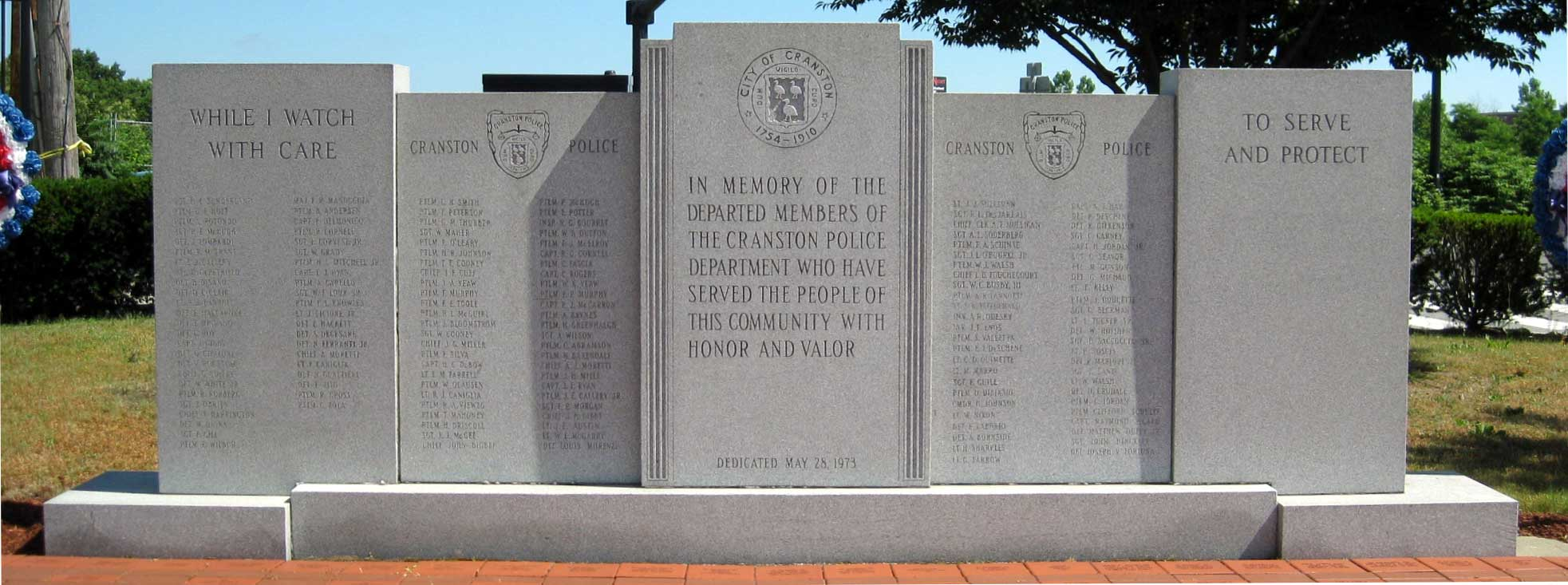 Cranston Police Officers Memorial